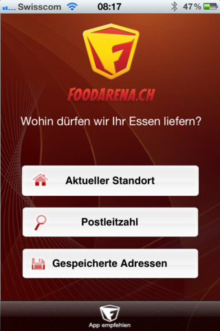 foodarena die ios app zum essen bestellen. Black Bedroom Furniture Sets. Home Design Ideas