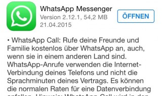 WhatsApp Update (Bildquelle: Apple App Store)