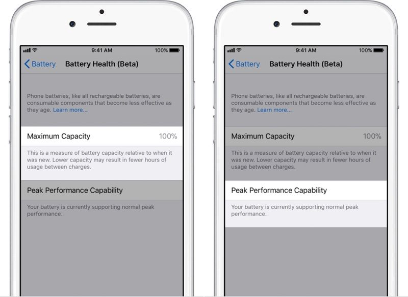 iOS 11.3 Batterie-Management (Bildquelle: MacRumors.com)