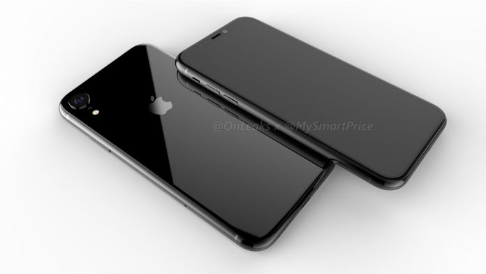 iPhone mit 6,1 Zoll Display Rendering (Bildquelle: Twitter/OnLeaks)
