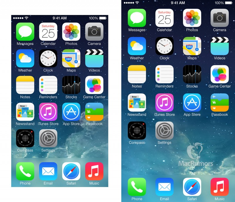iphone home screen das 4 7 zoll display im iphone 6 und die apps 1313